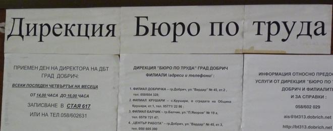 Процедури за кандидатстване на  работодатели за преференции по програми и насърчителни мерки за заетост и обучение на безработни лица в общините Добрич, Добричка, Балчик и Крушари
